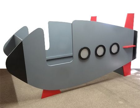 This rocket spaceship bed was made for a little boy who for Childrens rocket bed