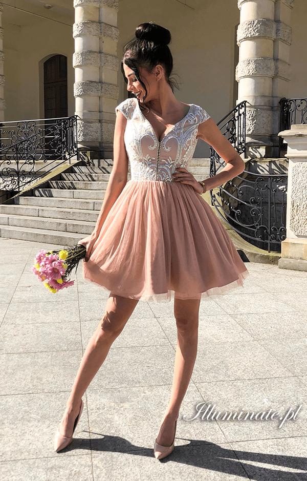 Laila Karmelowa Tiulowa Sukienka Na Wesele Tulle Dress Dresses Outfits