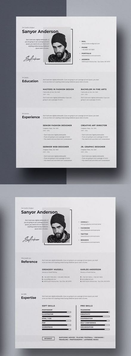 20 Ideas Design Portfolio Resume Graphics Resume Design Creative Graphic Design Resume Portfolio Resume