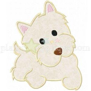 Yorkie Terrier Puppy Applique