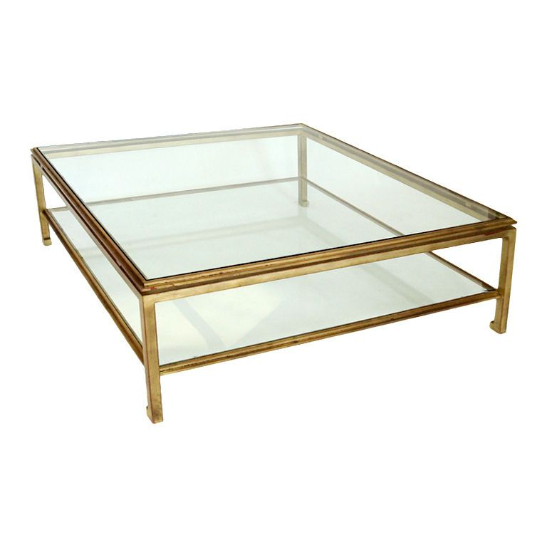 French Low Gilded Iron Table By Masion Jansen Mesa Centro Sala Mesa Lateral Muebles