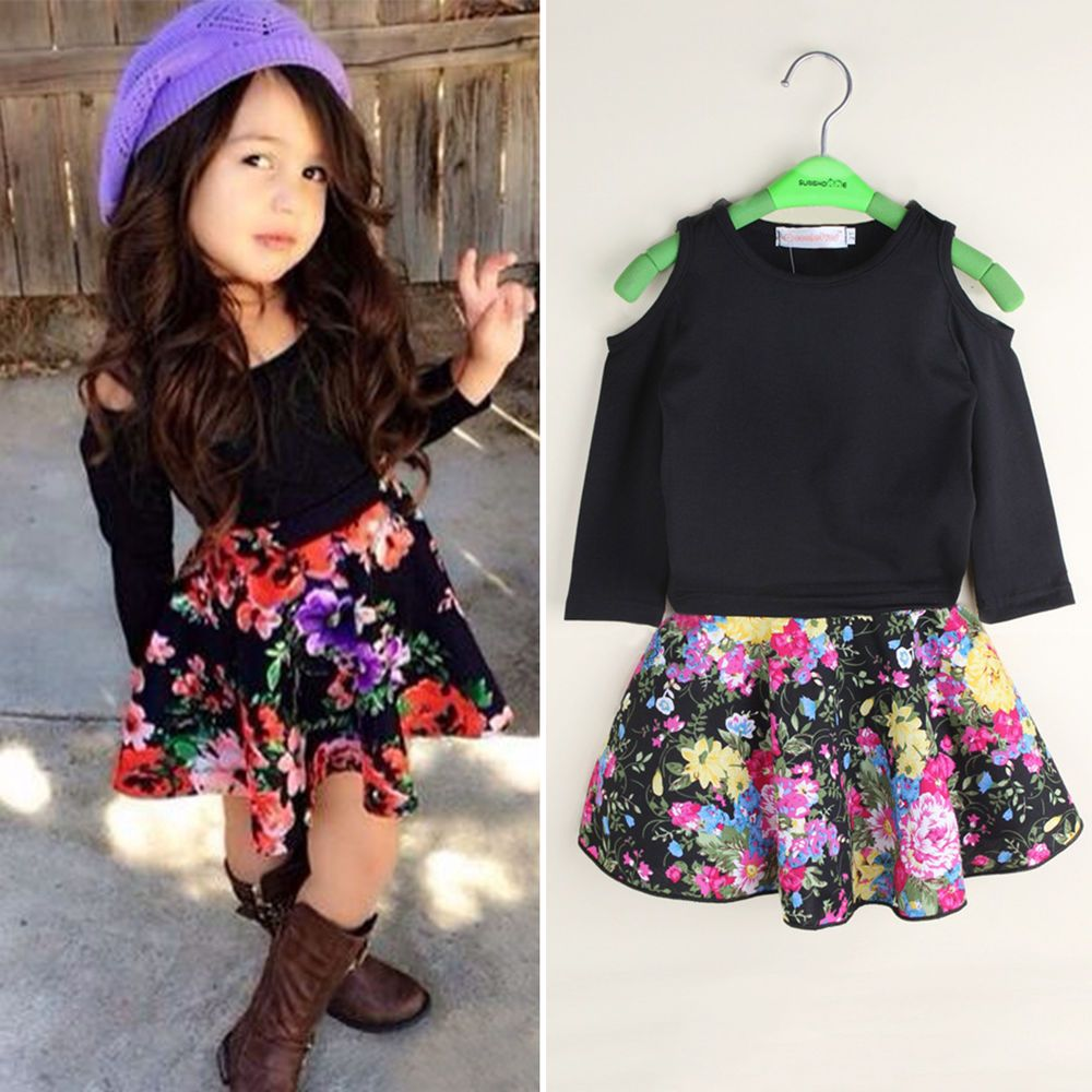 c3902c06e0ec Kids Toddler Baby Girls Off Shoulder T-shirt + Floral Skirt Outfits Clothes  Set in Clothing, Shoes & Accessories, Kids' Clothing, Shoes & Accs, ...