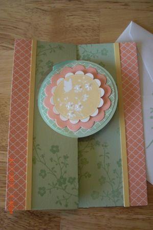 Serene Silhoutte Thank You Flip Card. Pistachio Pudding, Crisp Cantalope, So Saffron. Circle Flip Card