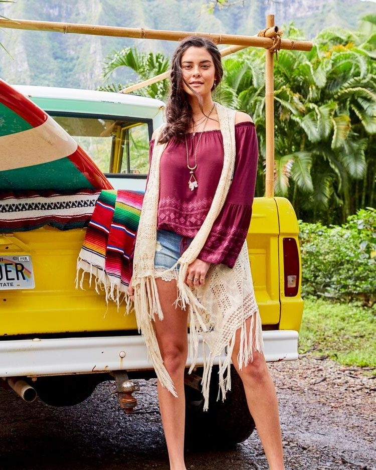 6f8fed18dfa Throw a crochet vest over your favorite outfit to create a perfect  Vacation-ready look for your next Summer getaway!