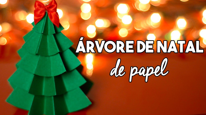 DIY Natal :: Como fazer árvore de natal de papel - Projeto Natal DIY