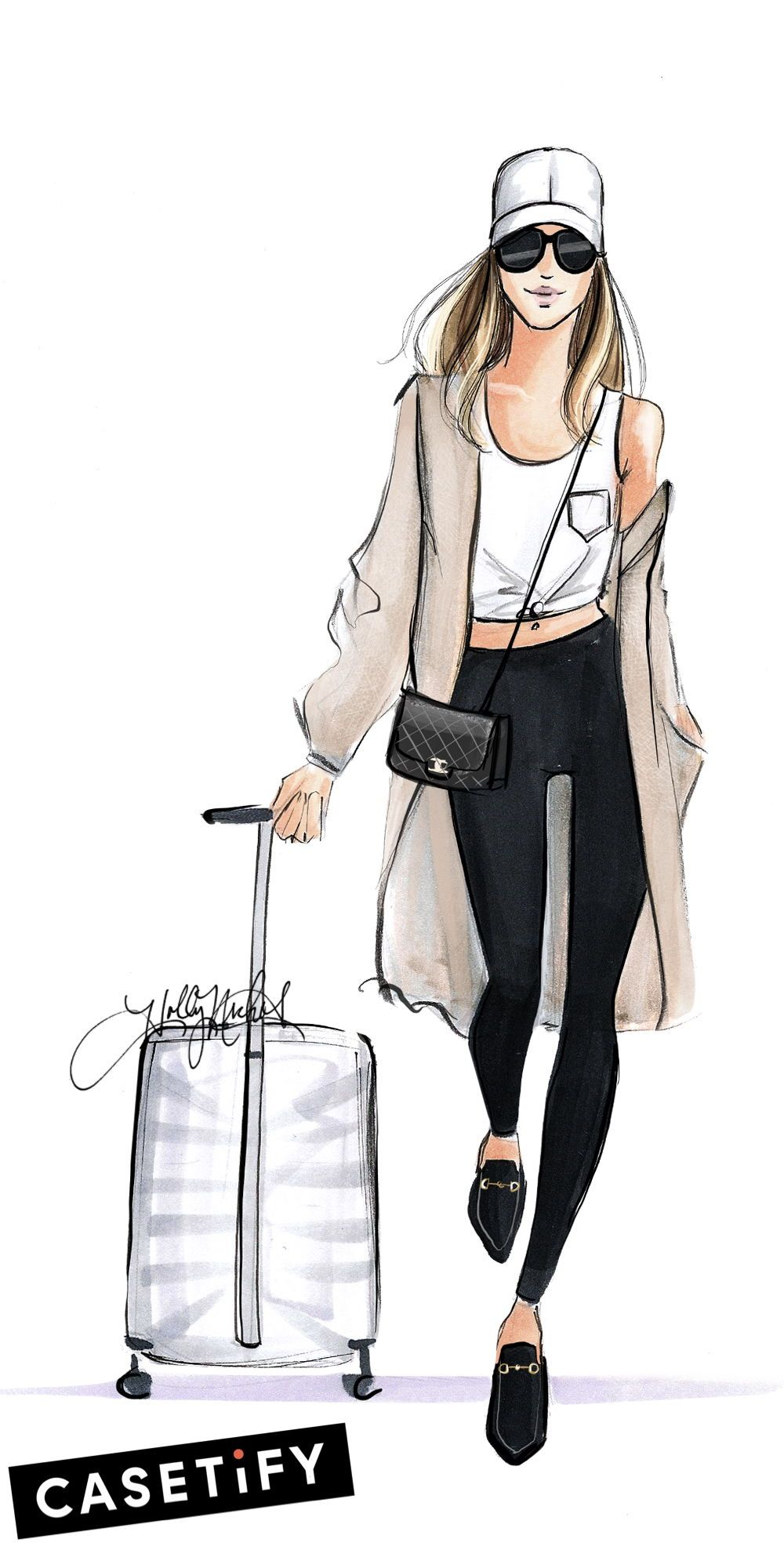 illustration art girl fashion