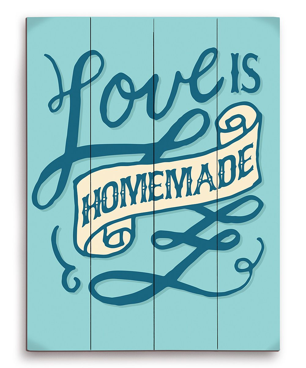 Blue ulove is homemadeu wood wall art things i love pinterest