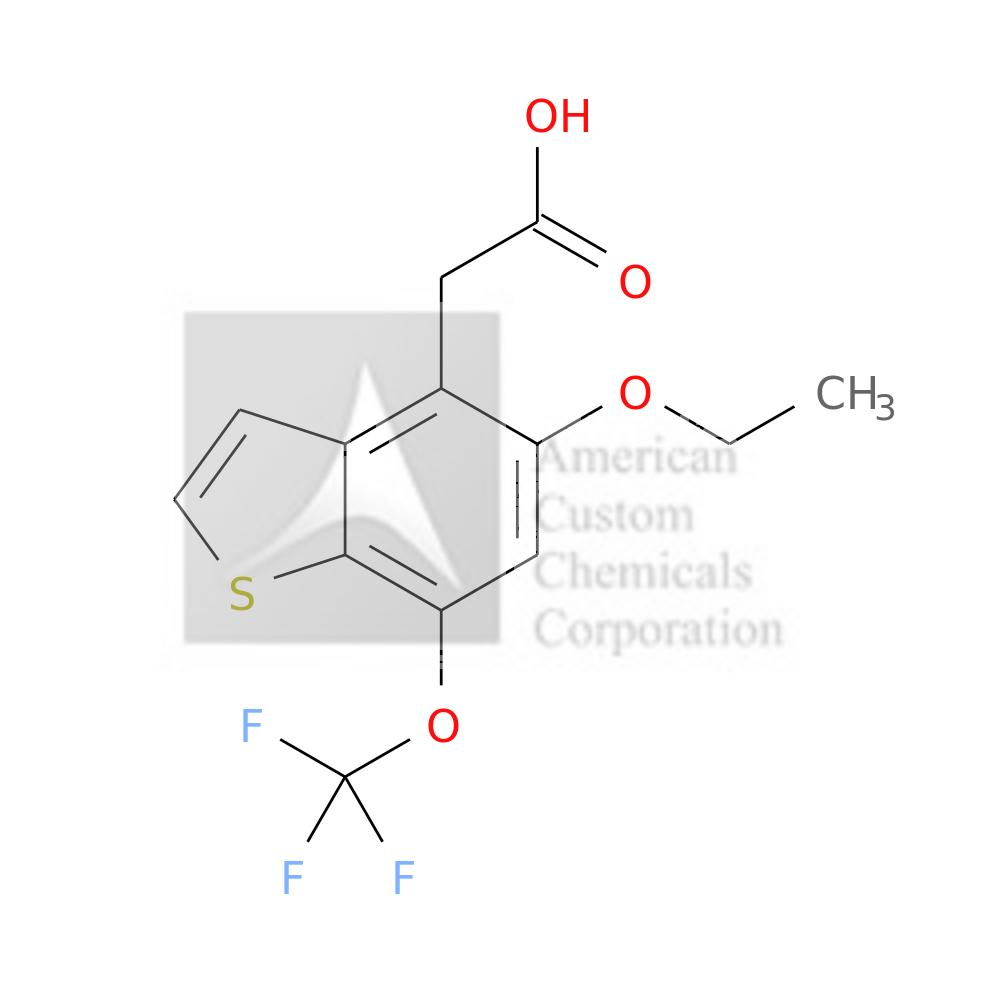 5-ETHOXY-7-(TRIFLUOROMETHOXY)BENZOTHIOPHENE-4-ACETIC ACID is now  available at ACC Corporation