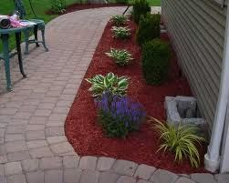 Love Red Mulch Goes Great With Brick Mulch Landscaping