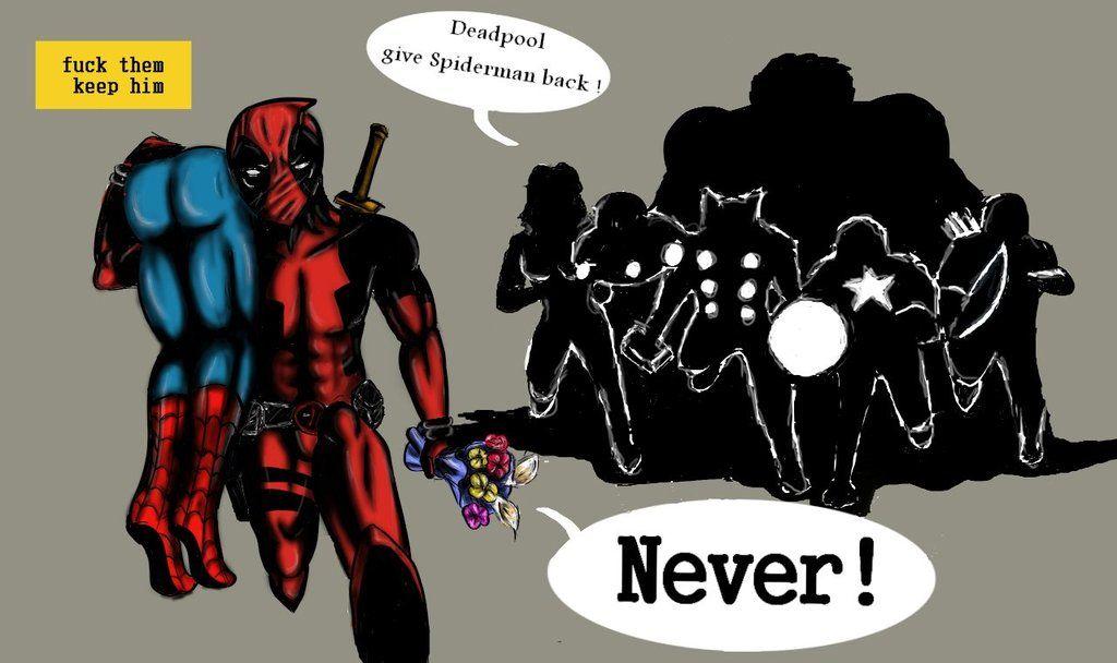 Deadpool kidnaps Spiderman - - Marvel | Spiderman and deadpool