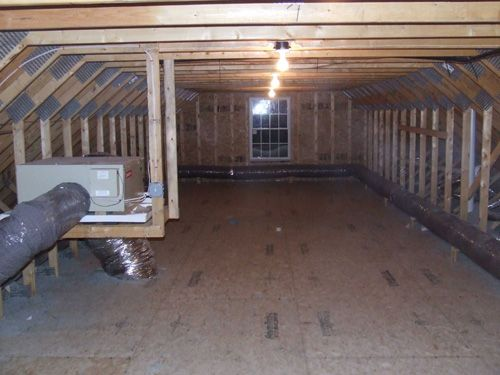 Attic storage space using attic trusses for the home for Utilizing attic space