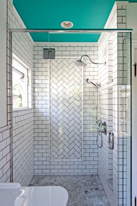 6 Paint Colors That Make A Splash On Ceilings Bathrooms Remodel Bathroom Design Painted Ceiling