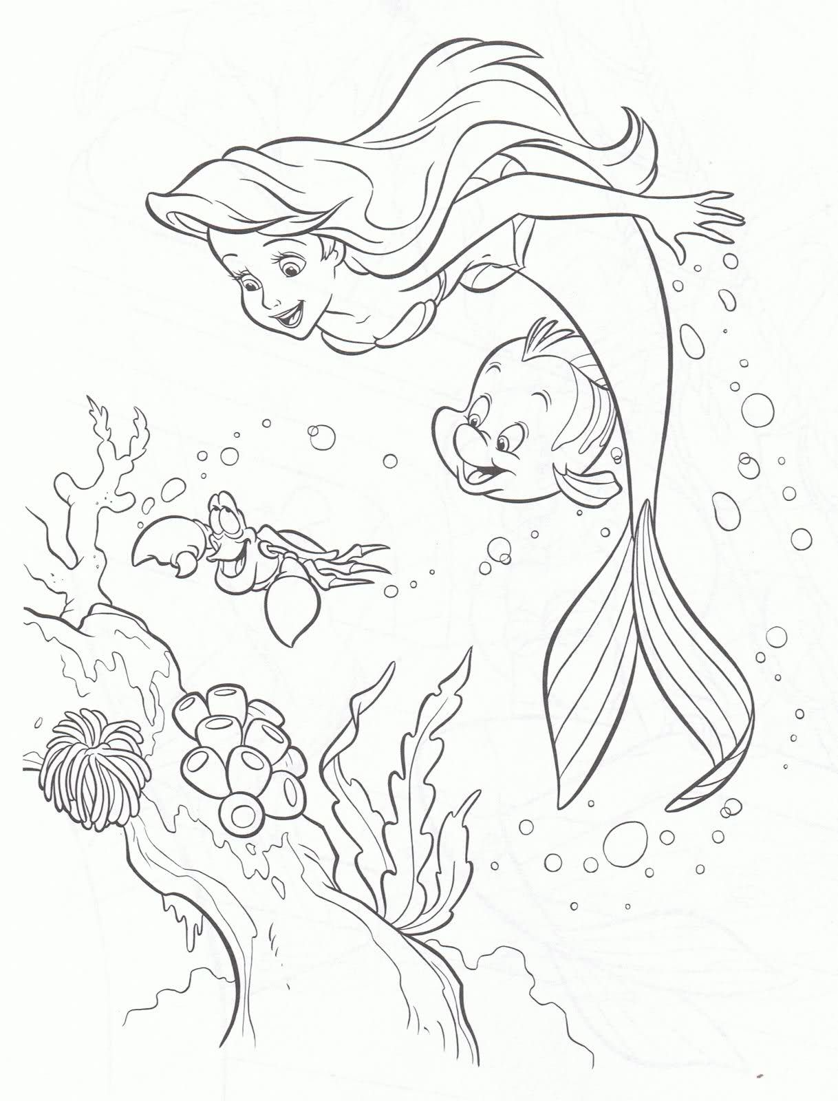 Ariel Colouring Pages 3 Con Imagenes Colorear Disney Paginas