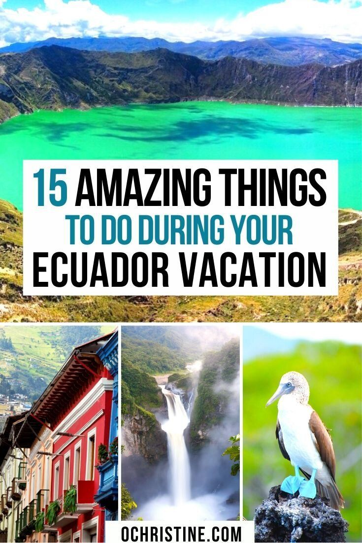 15 Amazing Things to do during your Ecuador vacation. This this the most epic Ecuador bucket list! What to do in Ecuador especially if you love nature and the outdoors. #ecuador | Ecuador Travel | Ecuador Travel Tips | Best things to do in Ecuador | #style #shopping #styles #outfit #pretty #girl #girls #beauty #beautiful #me #cute #stylish #photooftheday #swag #dress #shoes #diy #design #fashion #Travel