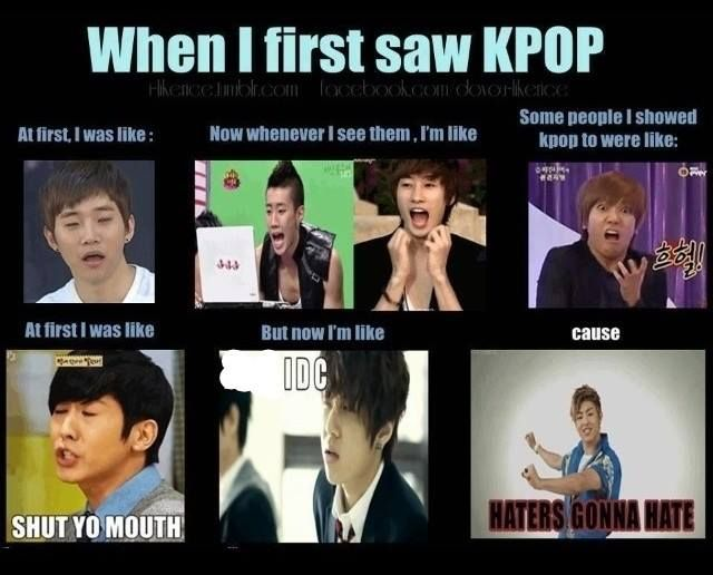 Actually I liked kpop from the start, I was just a little ...