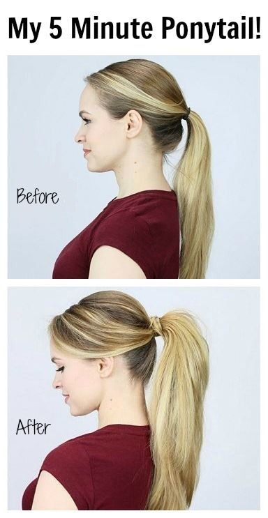 A bumped up pony hairstyle is an easy way to add an alluring  touch to your look.  They're chic, feminine, flirty and innumerable other things. However, they don't always look as perfect and sophisticated done with not a hair out of place as they do in the movies. Fortunately here's a trick to make them just so!