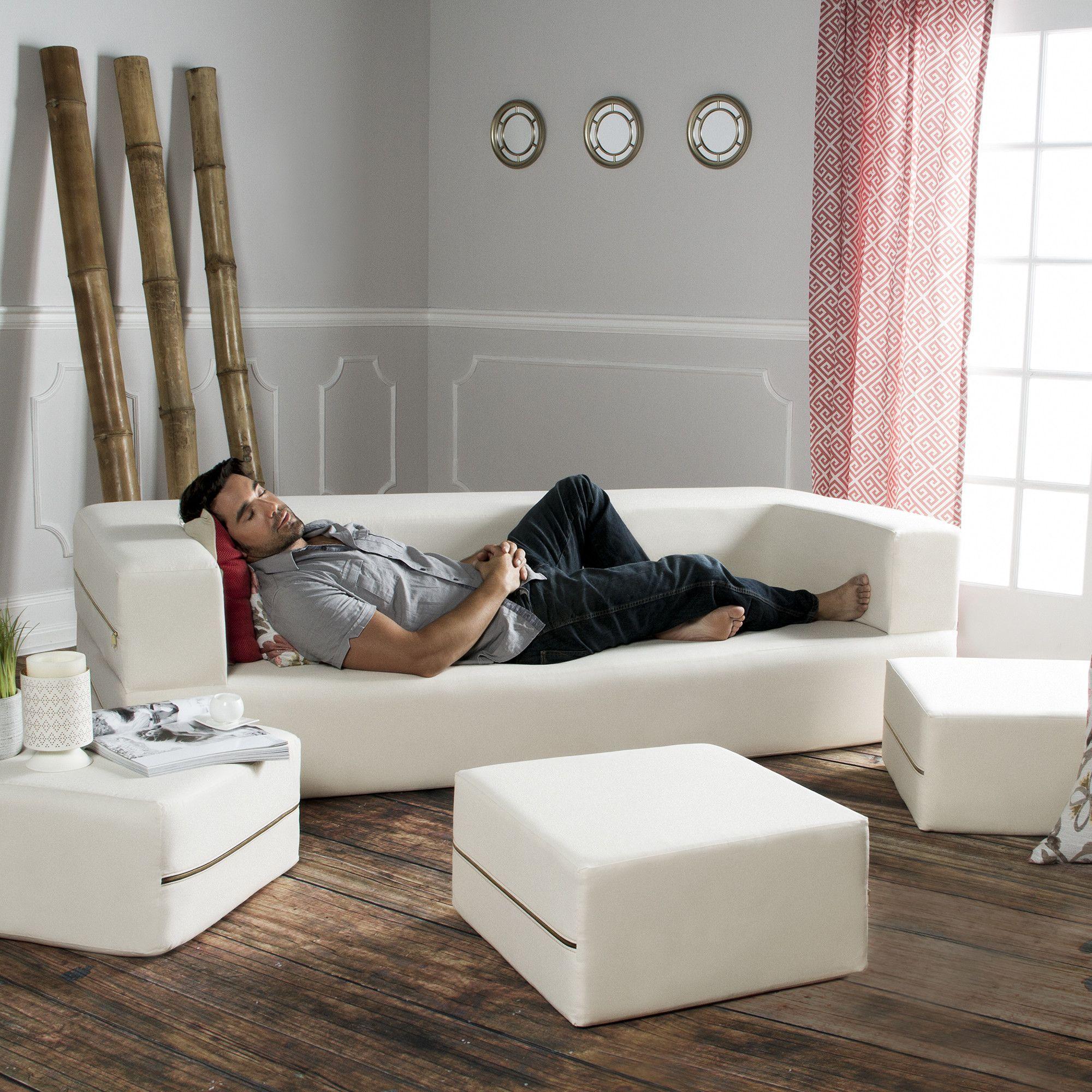 Zipline Modular Denim Sofa u0026 Ottomans Zipline