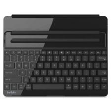 BLKF5L141BLKSLV Bluetooth-compatible keyboard/case is designed for iPad 2, 3 and 4. Specific keys are designated for copying and pasting text, moderating volume and controlling music. Adjustable landscape screen easily angles for typing and viewing. Keyboard pairs with iPad through Bluetooth and lasts 60 hours on one active battery charge. Standby battery life lasts 2,000 hours. Recharge the keyboard/case using micro USB cable. Durable case protects from scratches and scuffs.