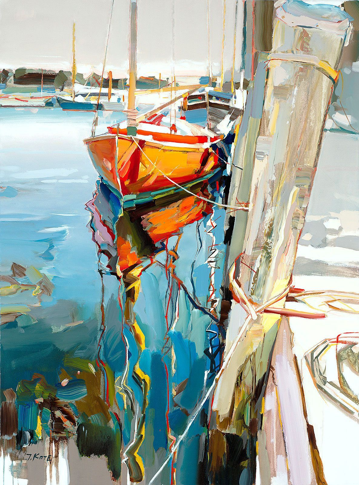Find And Save Ideas About Canvas Paintings On Pinterest See More Ideas About Canvas Quote Paintings Painting C Canvas Painting Boat Art Landscape Paintings