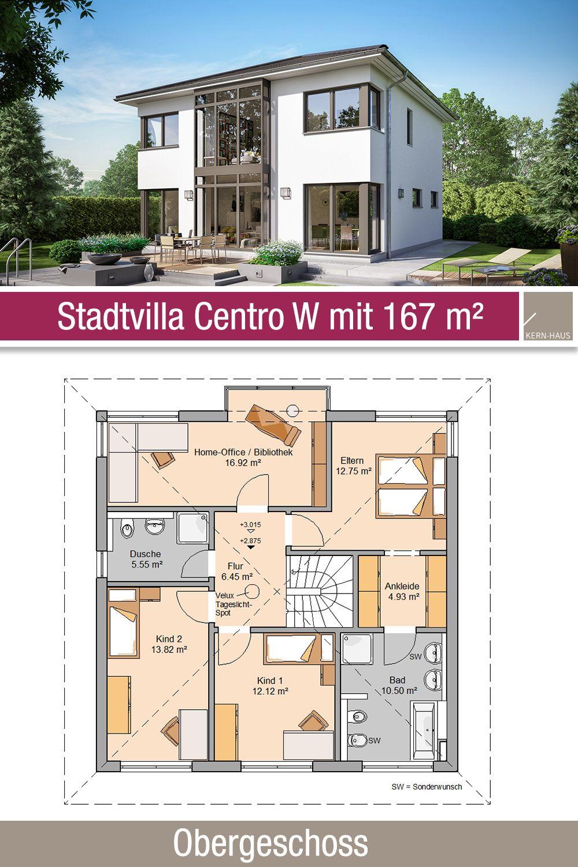 Stadtvilla Centro W Wintergarten Uber Zwei Etagen Stadtvilla Bauplan Haus Haus Grundriss