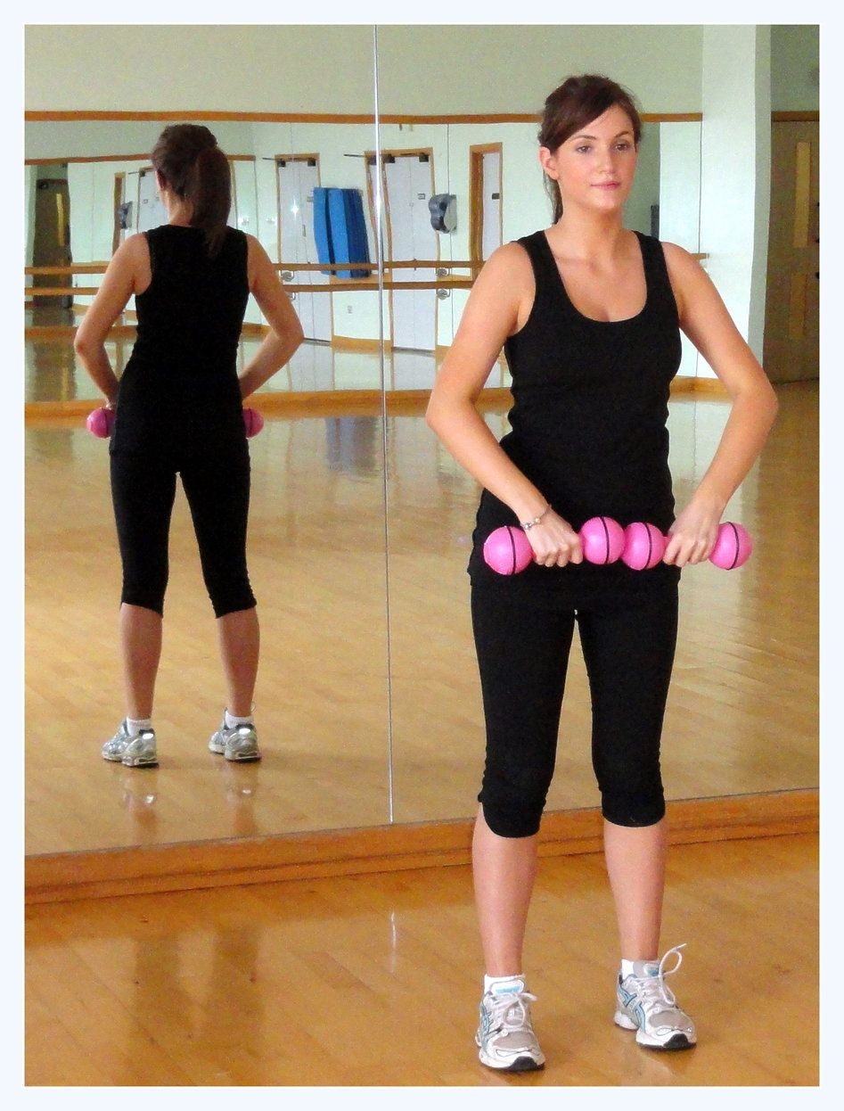 Upright Row - Great for strengthening your shoulders and arms, you need to be strong for carrying your baby around! Click for full instructions!