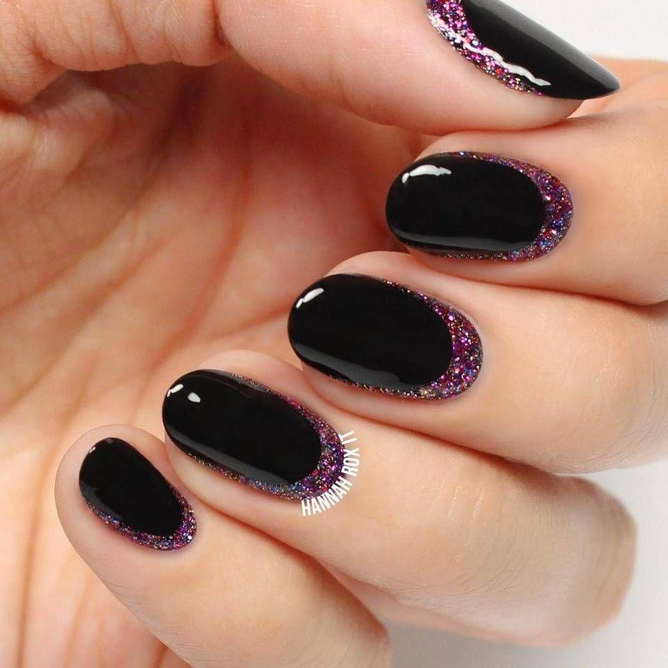 How To Glitter Cuticle Nail Art
