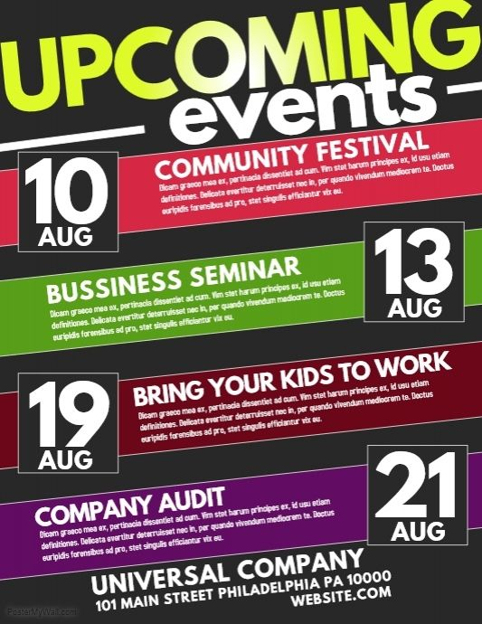 create amazing flyers and posters for your event makes for an easy
