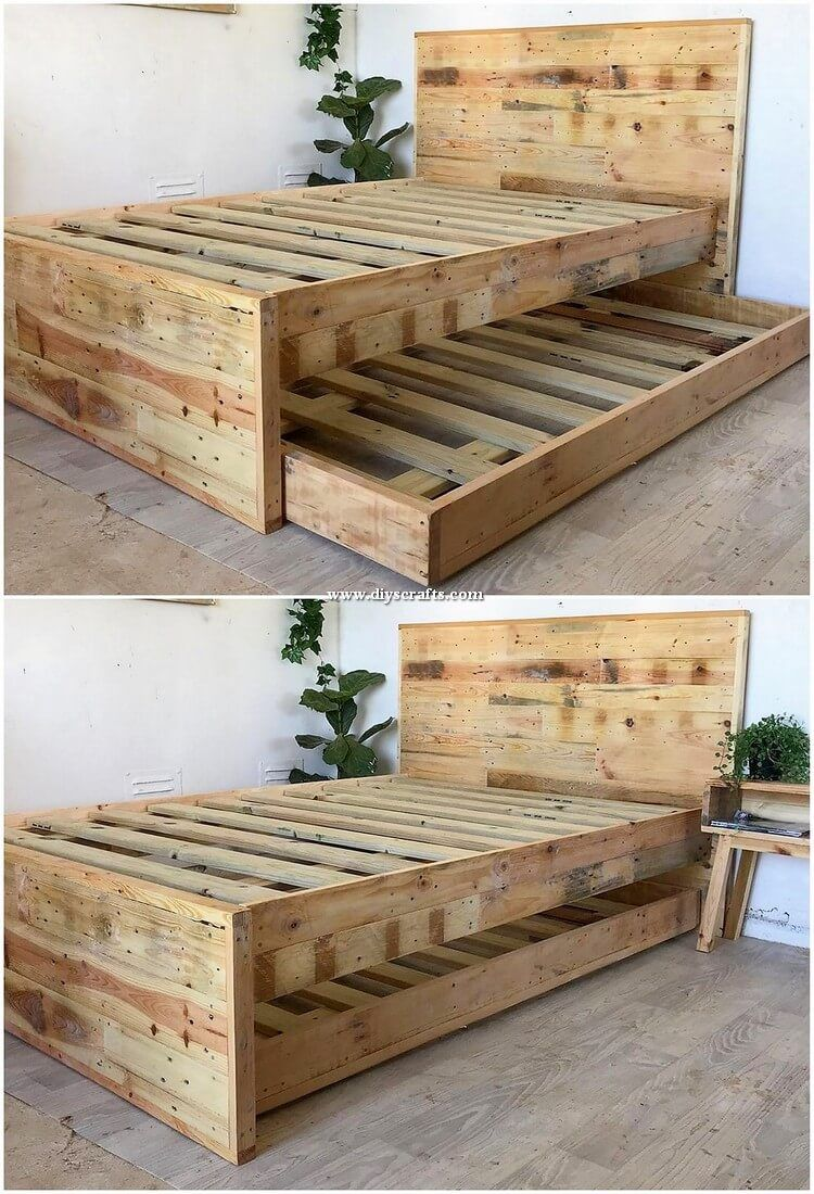 Elegant Diy Crafting Ideas With Shipping Pallets Pallet Bed