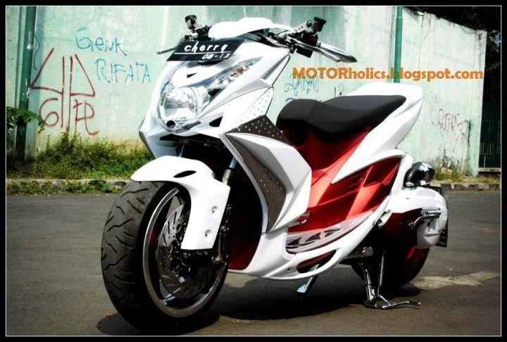 Modif Yamaha Mio Soul Putih Merah | Modifikasi Matic ...