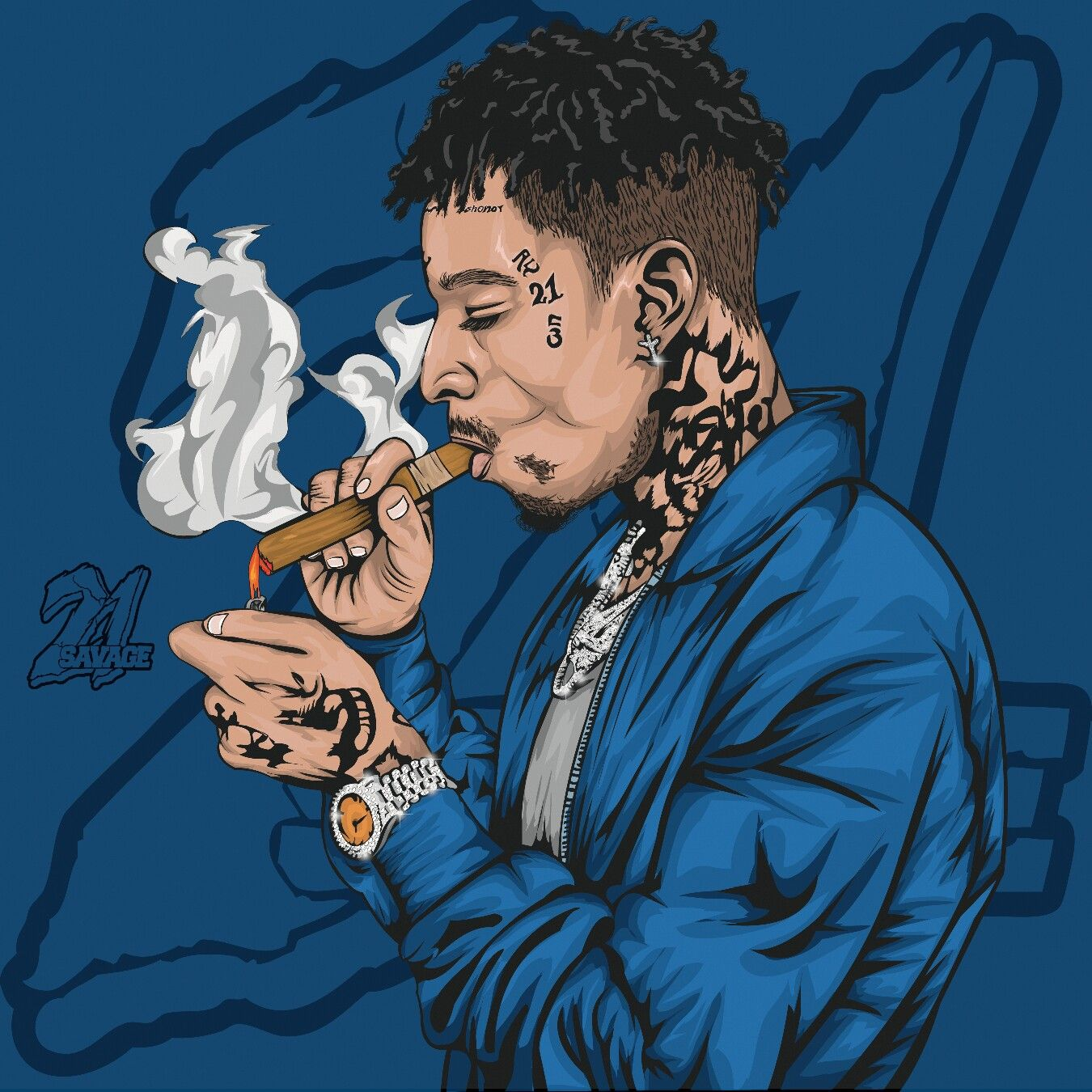 21 Savage Art by paulkawira Rapper art, Swag art