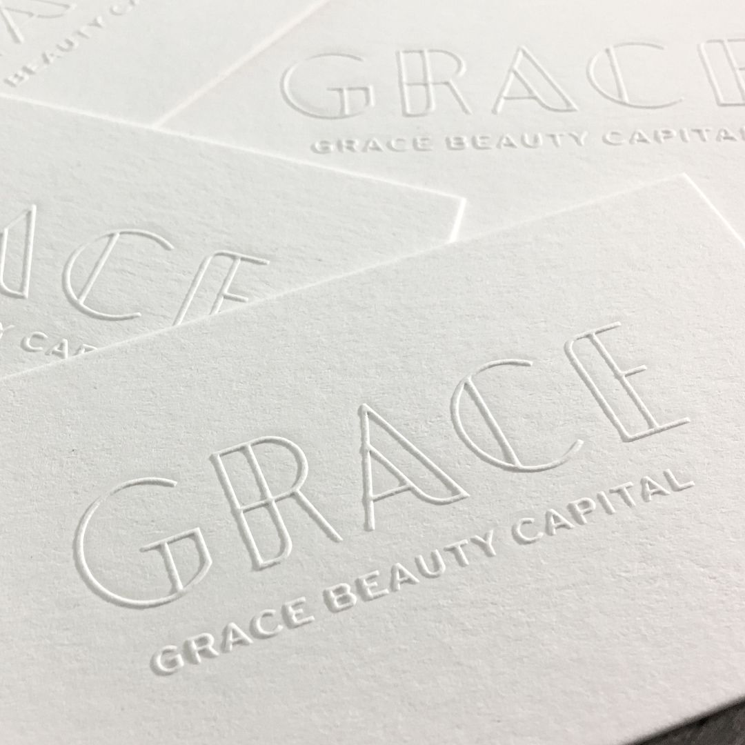 Studio on fire on instagram understated and tactile business cards studio on fire on instagram understated and tactile business cards by rabeandco for grace beauty capital using blind emboss and letterpress duplexed and colourmoves