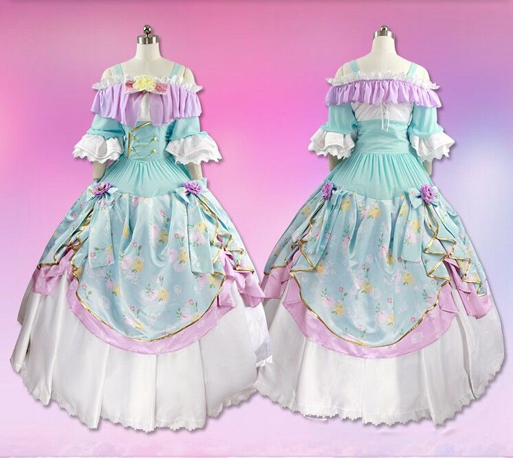 Kotori Minami LoveLive! Cosplay Ball Gown Dress Anime Cosplay ...