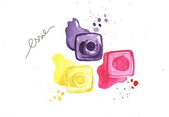 Nail polish Watercolor