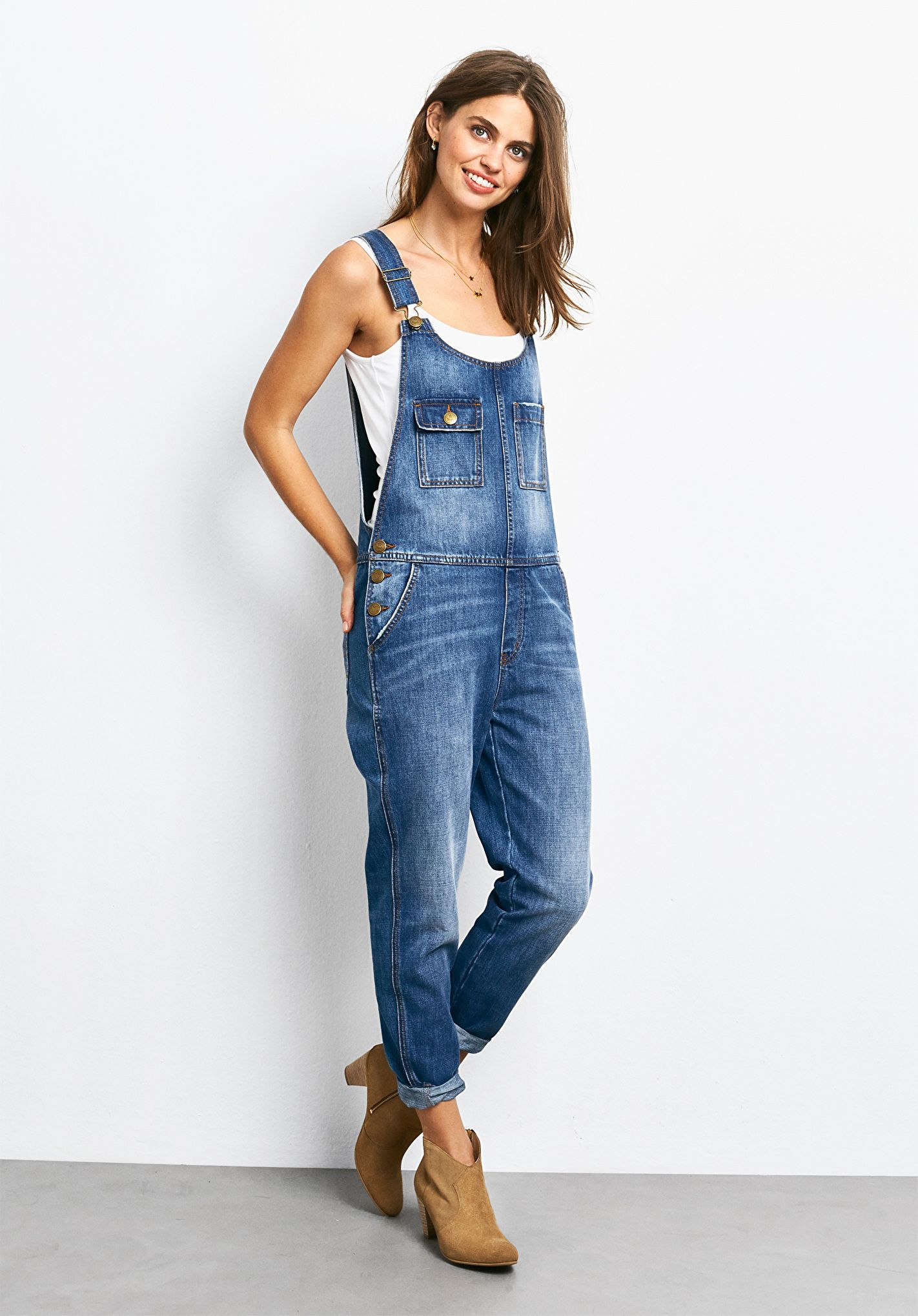 0d832c05ff8 Dungarees   Hair and fashion   Dungarees, Denim dungarees, Long ...