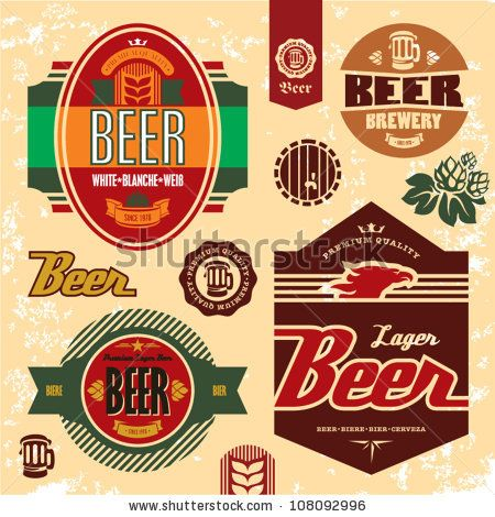 Beer Labels Badges And Icons Set By Etraveler Via Shutterstock