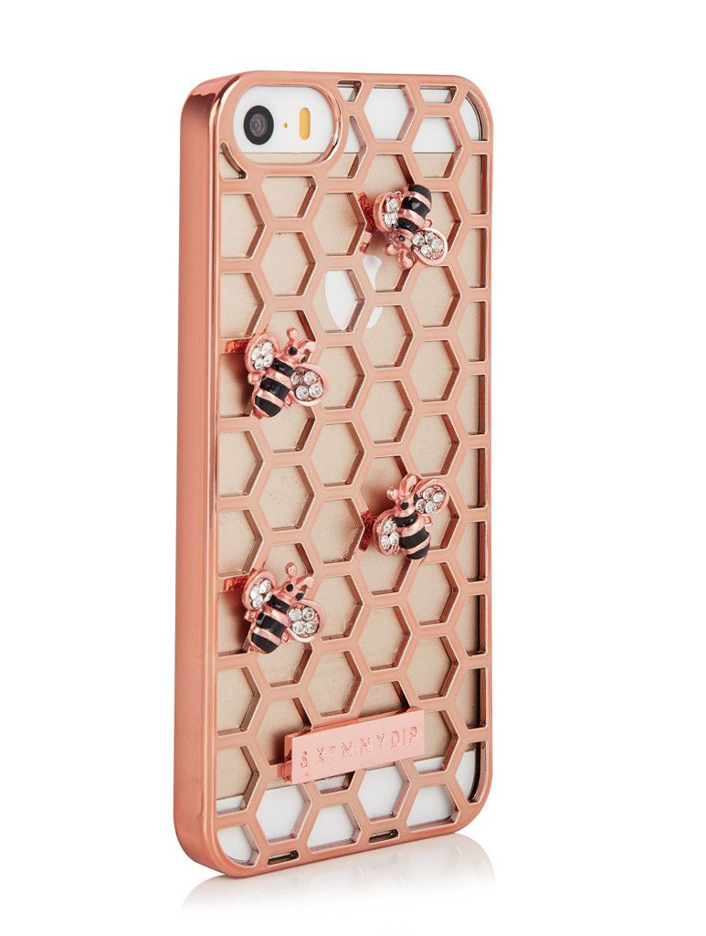 Skinnydip iPhone SE/5/5S Rose Gold Bee Case | iPhone cases ...