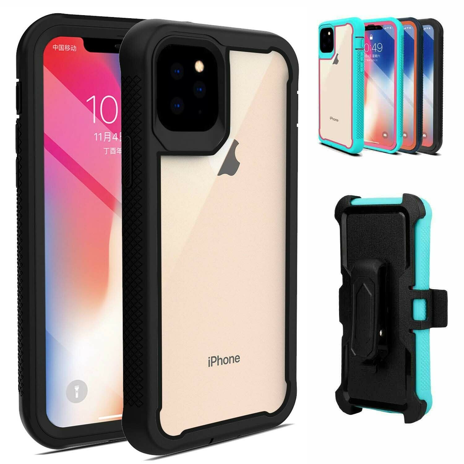 For iphone 11 pro max 12 pro 11 case hybrid heavy duty