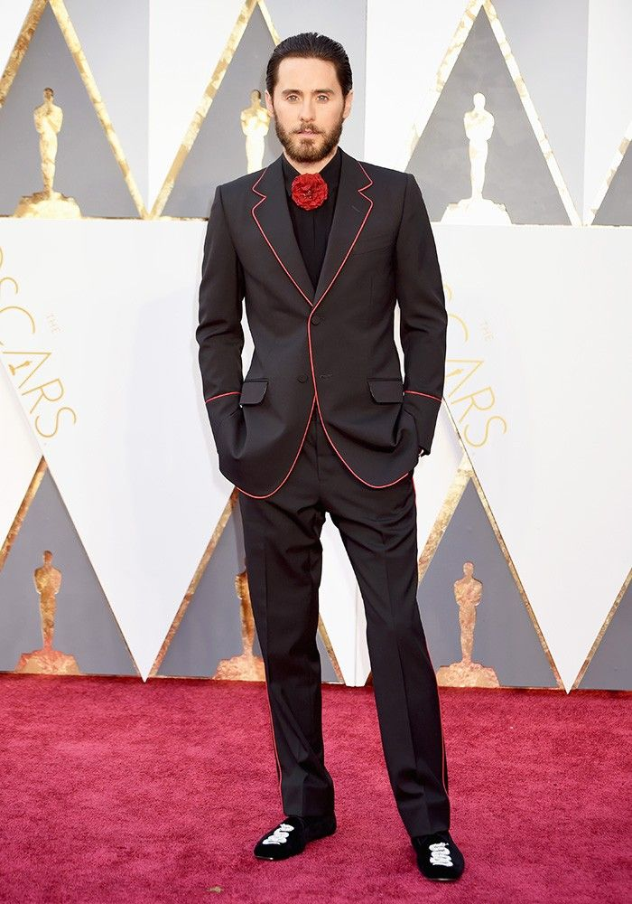 2327deaa1fd1 Jared Leto Brought the Designer of His Gucci Suit to the Oscars via   WhoWhatWearUK