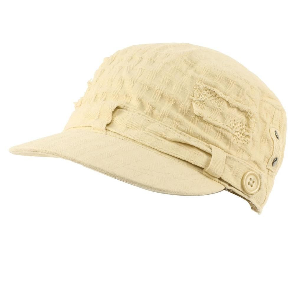 09f4ef27 Unisex Cotton Distressed Patch Summer Waffle Cadet Castro Military Cap Hat  Beige #fashion #clothing #shoes #accessories #womensaccessories #hats (ebay  link)