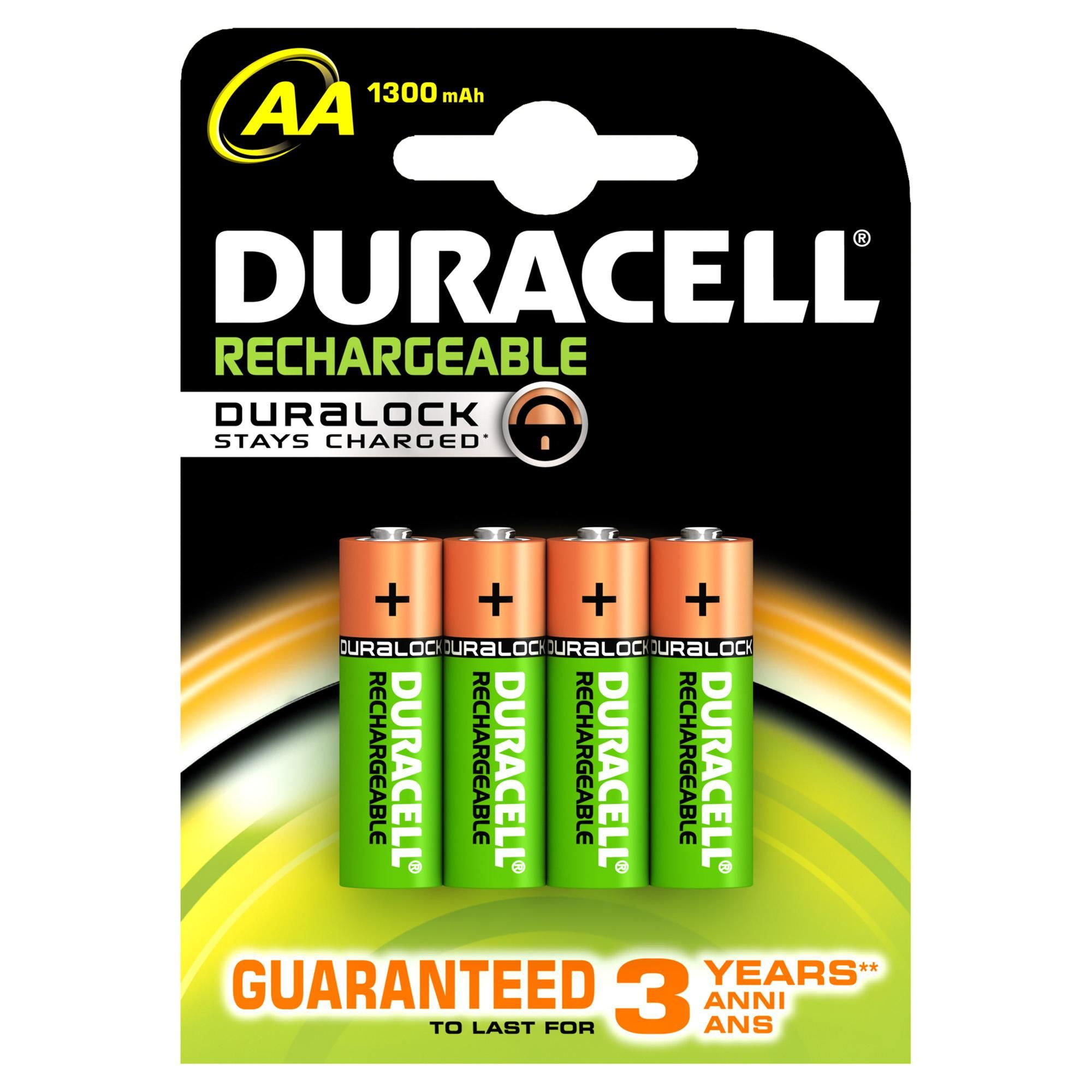 Duracell Pack Of 4 Aa Rechargeable Batteries Duracell Rechargeable Batteries Duracell Batteries