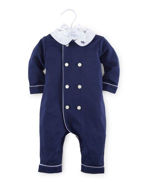 116e3132 Pima Cotton Coverall - Baby Boy One-Pieces - RalphLauren.com | For ...