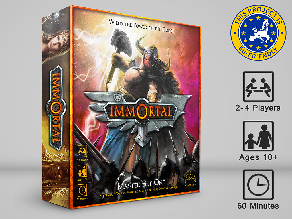 IMMORTAL Mythology Board Game project on Kickstarter