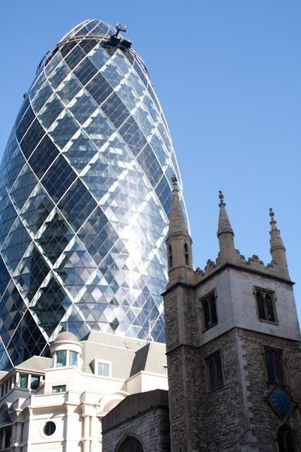 Old and New - An Age of Architecture Side By Side