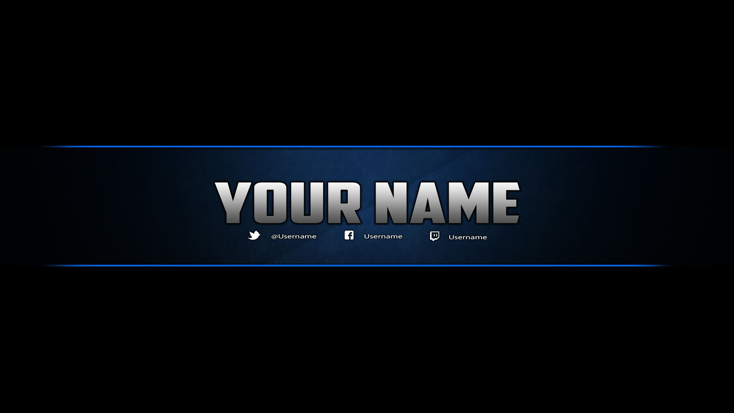 Youtube Banner Template Photoshop by DazGames on DeviantArt ...