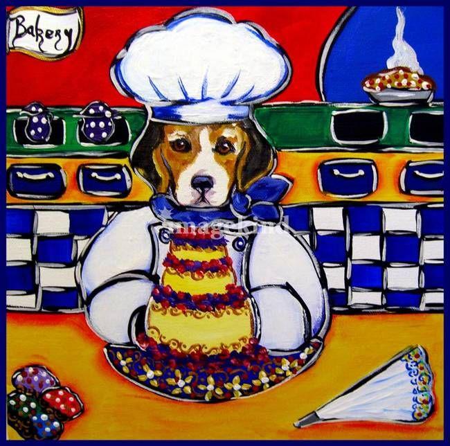 Beagle Chef Beagle Art Paw Art Sale Artwork