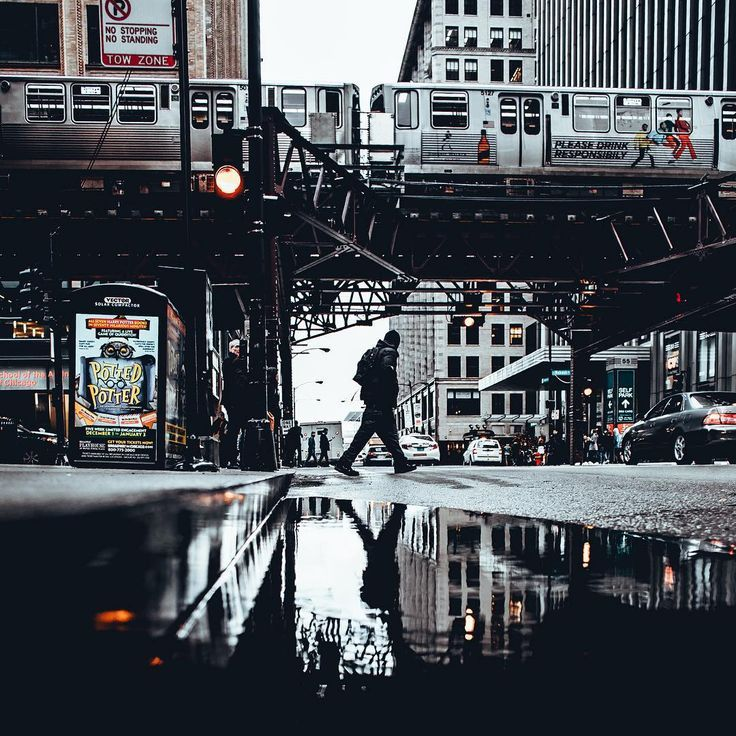 Instagram Street Photography By Shaqvel Abduzeedo Design - Photographer captures the amazing reflections of puddles in new yorks streets