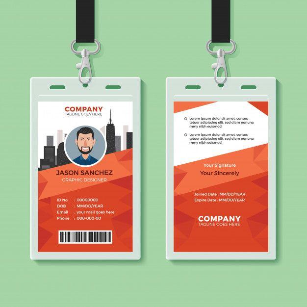 creative office identity card template  id card template