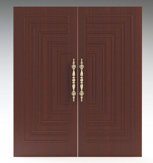 Max Door Double 3d Model Double Front Doors Double Door