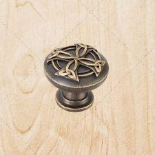 """Cabinet Hardware Celtic Knobs kq18 Brushed Antique Brass 1-3/8"""" Pulls"""