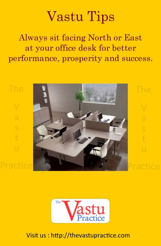 Always sit facing North or East at your office desk for ...